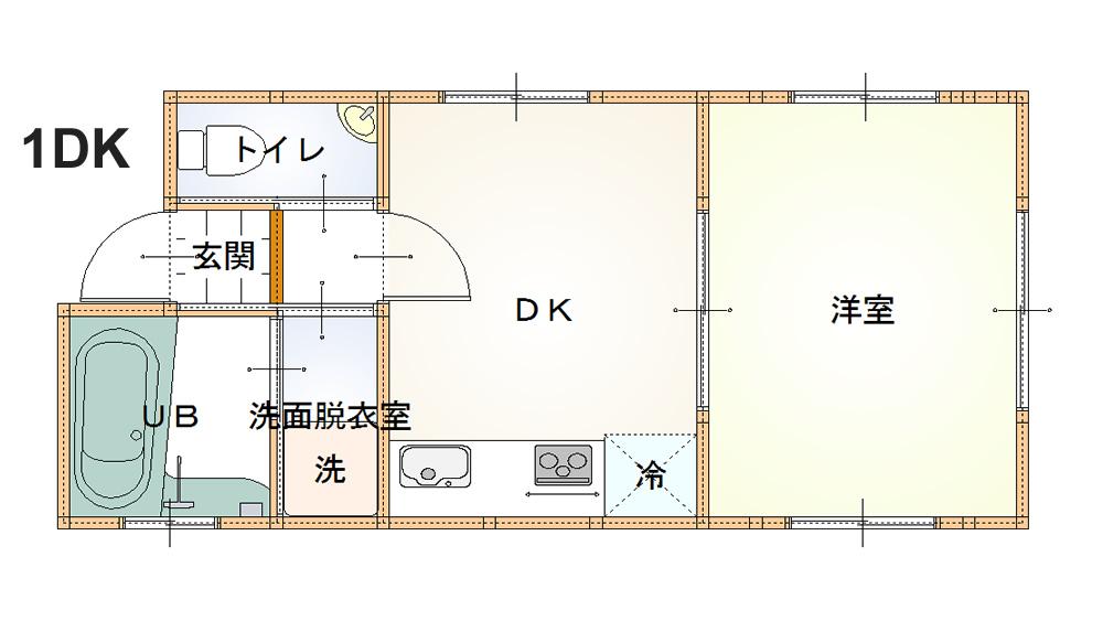 1DKの遺品整理(査定)参考写真