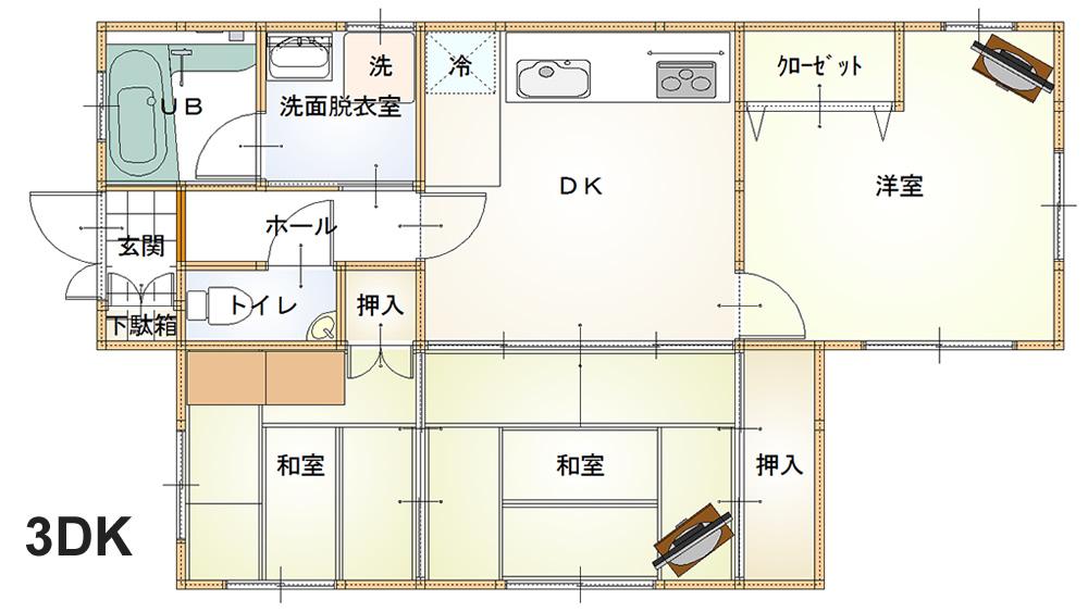 3DKの遺品整理(査定)参考写真